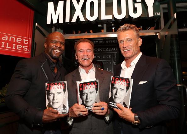 "Arnold Schwarzenegger ""Total Recall"" Book Party At Mixology 101"