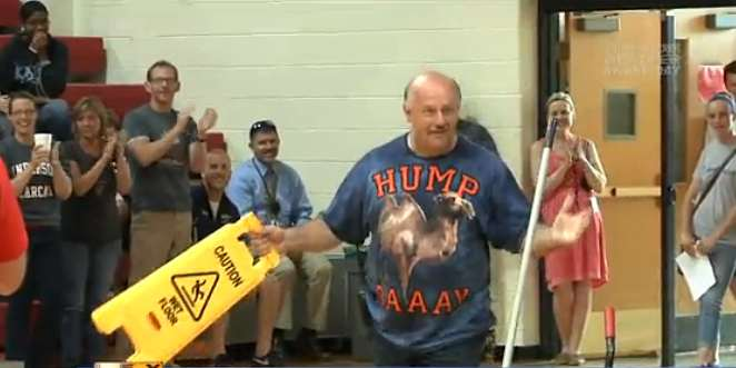 Janitor Receives Surprise Gift of $1,900 from Students