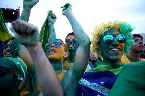 World Cup Fans Gather To Watch Matches In Rio
