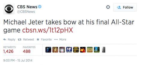 CBS News tweet