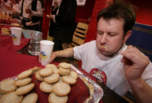 Wookey Hole Hosts Mince Pie Eating Competition
