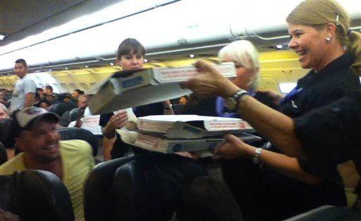 Pilot Orders Pizza