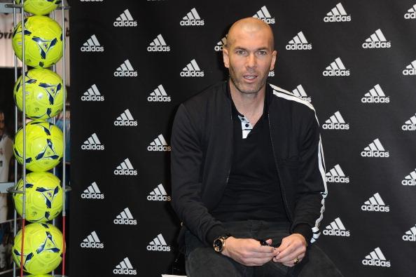 David Beckham And Zinedine Zidane Autograph Session At The adidas Store.