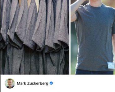 Why Mark Zuckerberg Wears The Same T-Shirt Every Day